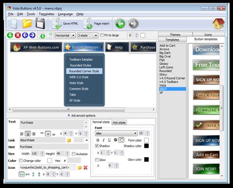 Joomla menue aufklappen horizontal for Cool dreamweaver templates