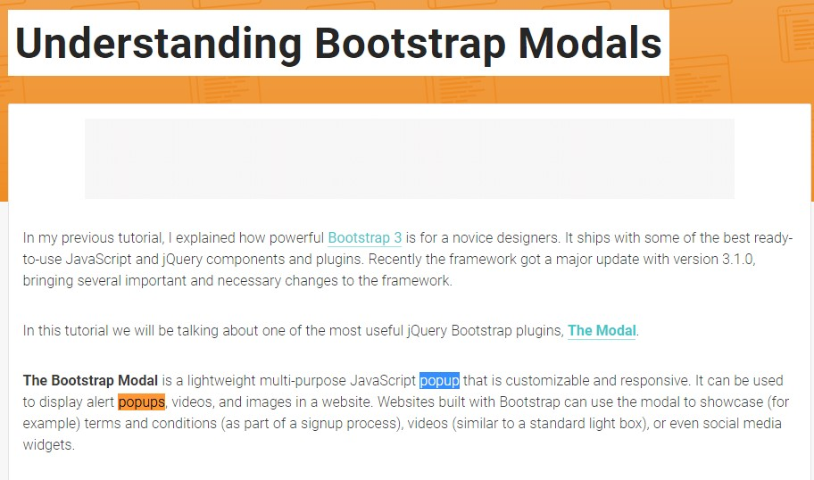 One more  handy  information  relating to Bootstrap Modal Popup